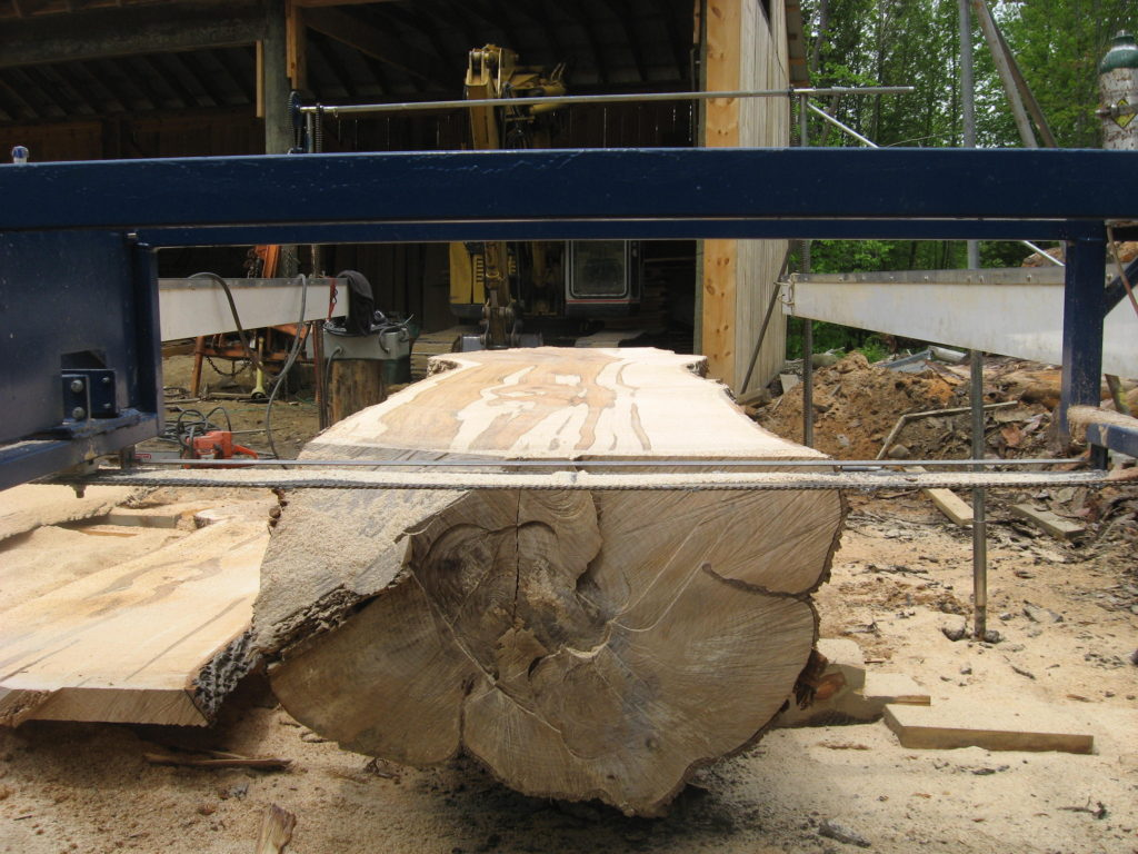 live edge slab mill